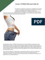 ¿La Dieta Baja en Grasas o Pritikin Dieta para bajar de Weighth