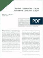 Early Modern Ottoman Coffeehouse Culture