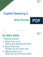 English Speaking 2 - Daily Routine
