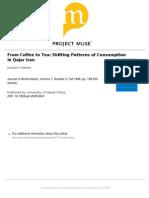 Matthee 1996 Coffee to Tea Shifting Patterns of Consumption in Qajar Iran