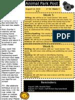 Newsletter Q1 Weeks 5 & 6