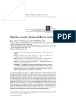Cognitive Executive Function in Down's Syndrome