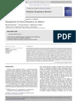 Management of Status Asthmaticus in Children Muriel Konickx 2013