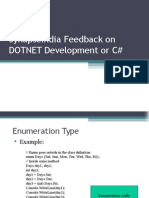 SynapseIndia Feedback on DOTNET Development or C#