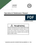 Shandong Lingong Wheel Loader  LG918 Operation & Maintenance Manual 2nd 10.3.23