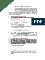 Edital Divulga Data Prova Tcm 2011
