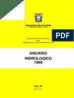 Anuario Hidrológico Ecuador 1996 INAMHI