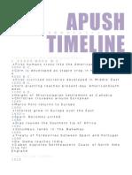 Apush Timeline Ch 1-25