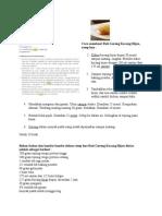 tips Cara Membuat Roti Goreng Kacang Hijau