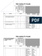 TRS Quality Plan - Complete