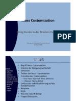 Mass Customization im Rahmen des CRM (Vortrag)