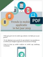 Trends in mobiele applicatie in het jaar 2015