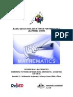 Mathematics Arithmetic Sequences