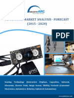 Gesture Recognition Products and Drop in Sensor prices to drive the 3D Sensors Market to $9.5 billion by 2020
