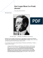 ADL Likens Leo Frank Case to the Holocaust