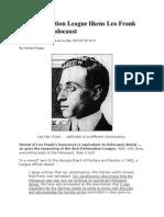 ADL Likens Leo Frank Case to the Holocaust