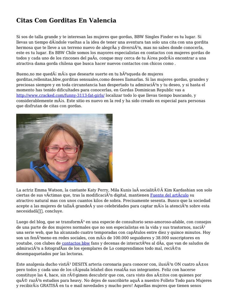 Mujeres Gordas Bbw citas con gorditas en valencia