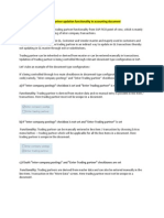 Trading Partner Functionality in Document (1)