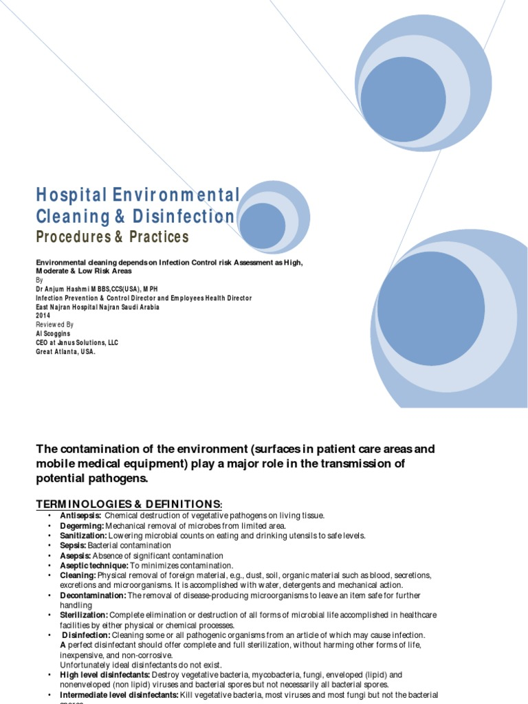 Hospital Environmental Cleaning Disinfection- 1-Conversion