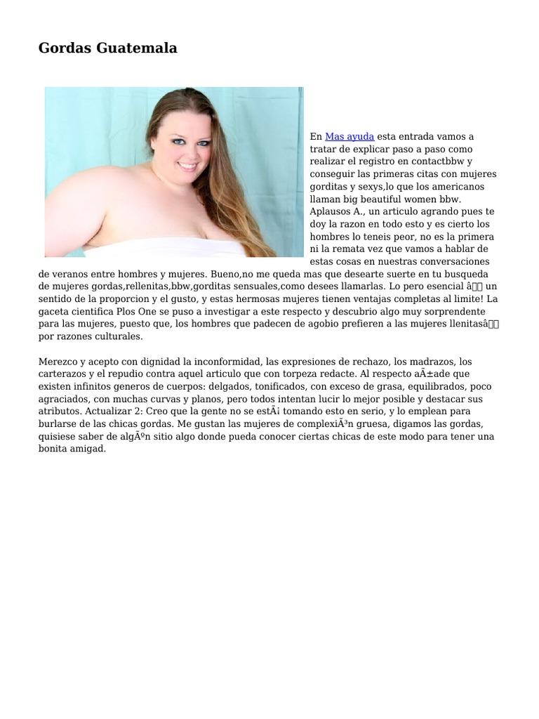 Mujeres Gordas Bbw gordas guatemala
