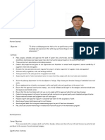 MEP Foreman resume