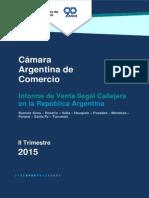 _Informe de Venta Ilegal Callejera en La República Argentina. CAC_, Ago2015
