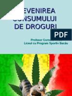 Prevenirea consumului de droguri