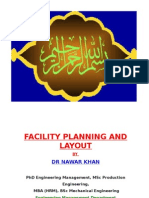 Facility Planning & Layouts Basic Criteria