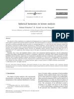 Spherical Harmonics in Texture Analysis