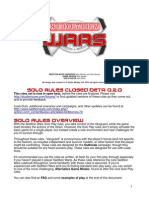 Sedition wars solo rules