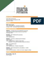 CV - Maria Fernanda Vieira