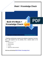 BUS 475 Week 1 Knowledge Check UOP New Tutorials