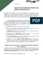 ENGpower - RAPPORTO DETTAGLIATO INTERVISTA ONLINE STUDENTI (CLIL)