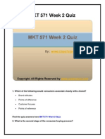 MKT 571 Week 2 Quiz UOP New Tutorials