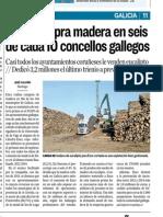 Ence compra madera en 6 de cada 10 municipios gallegos