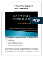 BUS 475 Week 2 Knowledge Check UOP Course Tutorial