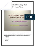 BUS 475 Week 4 Knowledge Check UOP Course Tutorial