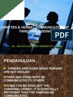 Written&Verbal Com Criting1