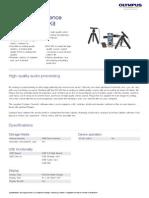 Olympus DM-650 Conference Kit Datasheet