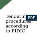 FIDIC Tendering Procedures.doc