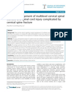 Surgical Management of Multilevel Cervical Spinal Stenosis and Spinal Cord Injury Complicated by Cervical Spine Fracture