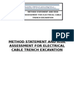 Method Statement and Risk Assessment for Electrical Cable Trench Excavation