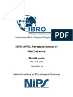 IBRO-APRC Advanced School Report 2015 (Okazaki, Japan)