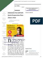 Air Force Common Admission Test (AFCAT) Quick Preparation Plan - Jisha G