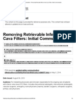 Safety Communications _ Removing Retrievable Inferior Vena Cava Filters_ Initial Communication