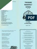 1996 10 20 Roosevelt 75th Anniversary Celebration Program