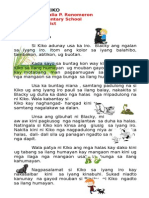 Ang Iro Ni Kiko (Visayan Short Story for Kindergarten)