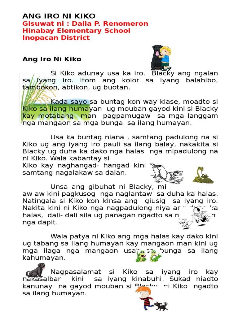 ang iro ni kiko  visayan short story for kindergarten