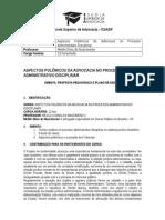 Aspectos Polêmicos Da Advocacia No Processo Administrativo Disciplinar