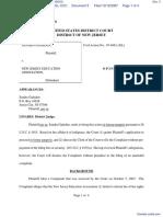 GADSDEN v. NEW JERSEY EDUCATION ASSOC. - Document No. 3